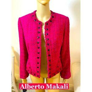Alberto Makali Pink Studded Jacket Sz 10